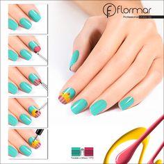 Un Nail Art perfecto para este viernes, ahora sí que te querrás comer las uñas  #Cute #NailArt #CupCakes
