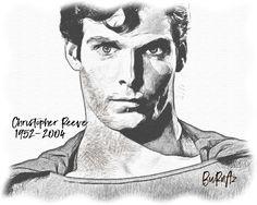#ChristopherReeve #Superman #handdrawing #karakalem by Kadir Burnaz
