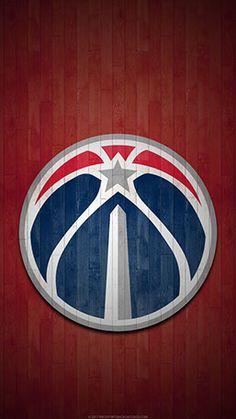 Washington Wizards Mobile Hardwood Logo Wallpaper V1
