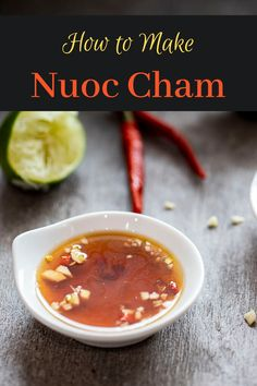 Consisting of fish sauce, garlic, chilies, sugar and lime juice, this sauce is the epitome of Vietnamese flavors - it's sweet, salty, sour and spicy. Vietnamese Fish, Vietnamese Cuisine, Fruit Sauce, Fish Sauce, Cocktail Sauce, Tzatziki Sauce, Fusion Food, Fresh Garlic, Lime Juice