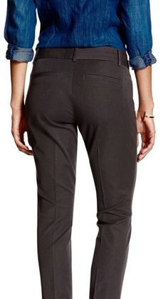 Banana Republic Jackson Fit Brown Cuffed Casual Pants Women's Stretch Size 0 NWT #BananaRepublic #CasualPants