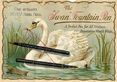 Old Swan Pen poster