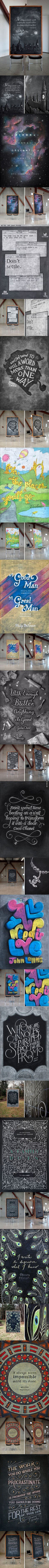 Every Week, Two Anonymous Students Create Stunning Chalkboard Art With Famous Quotes.