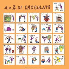 A - Z of Chocolate Posters by Nicola Streeten at AllPosters.com