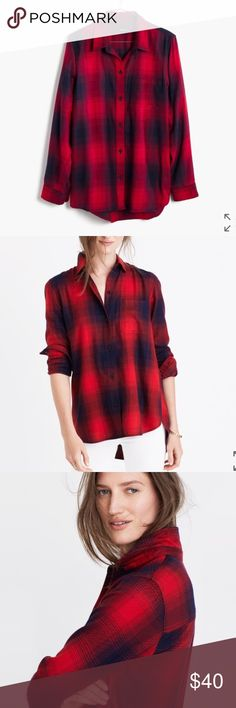 NWT madewell flannel Brand new with tags size large madewell flannel. Normally $79 Madewell Tops Button Down Shirts