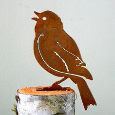 Ellegant Garden Painted Bunting Bird Silhouette Rusty Metal Rustic Art Made USA * Read more at the image link. Bunting Bird, Painted Bunting, Garden Painting, Garden Art, Garden Design, Garden Walls, Silhouette Painting, Bird Silhouette, Art Rustique