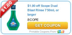 $1.00 off Scope Dual Blast Rinse 750mL or larger
