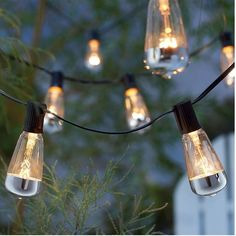 A set of mercury-dipped string lights to leave up year-round.