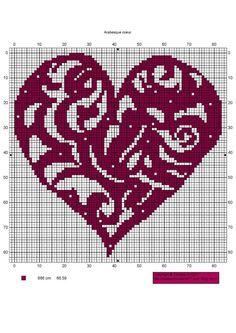 ♥ Korsstygns-Arkivet ♥: FREE CROSS STITCH PATTERN-HEARTS