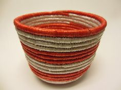 Your place to buy and sell all things handmade Basket Weaving, Hand Weaving, Traditional Bowls, Valentines Day Gifts For Her, Fair Trade, Thoughtful Gifts, Decorative Bowls, Grass, Red And White