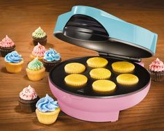 NOSTALGIA ELECTRICS CKM100 ELECTRIC CUPCAKE MAKER  #NostalgiaElectrics  Please RePinit, ReTweet and Share on Facebook. Thanks