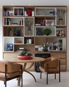 Library with minibar.