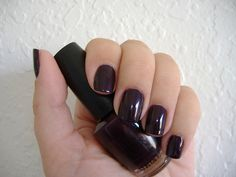 OPI Lincoln Park After Dark - Looks black, but with purple tones.