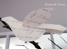 Paper Bird Tutorial, from Hymns and Verses