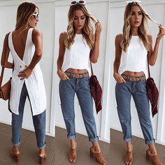Gianna top Team it back with your fave boyfriend or mom jeans #muraboutique #style #fashion #outfit #jeans #denim #top #white #linen #sunglasses #shevoke #bag #summer #chic #vacay #vacation