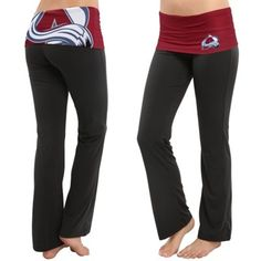 Women's Colorado Avalanche Black Sublime Knit Lounge Pants