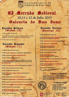 Del viernes 10 hasta el domingo 12, V Jornadas Medievales en Valencia de Don Juan