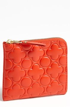 Comme des Garçons 'Small' Embossed French Wallet available at #Nordstrom... The red one is cute
