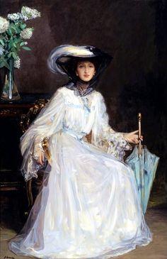Sir John Lavery -  Evelyn Farquhar, wife of Captain Francis Douglas Farquhar, 1915
