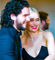 "- ""Favourite one moment from Kit and Emilia is hot Dany And Jon, Kit And Emilia, A Dream Of Spring, Tragic Love Stories, Kit Harrington, Game Of Trones, Tv Couples, Emilia Clarke, Celebs"