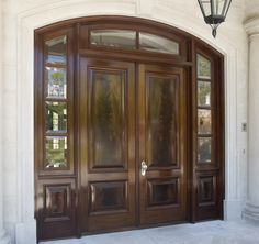 mahogany exterior doors - Craftsman 1 Lite Stained Mahogany Wood Entry Door. Would have single two panel door.