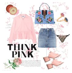 Pinkies Up by syenna99 on Polyvore featuring polyvore, fashion, style, MSGM, Topshop, L'Agent By Agent Provocateur, Gucci, Bayco, Anthropologie and clothing