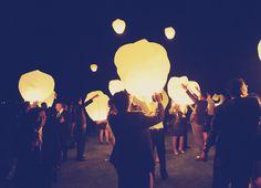 FLOATING lanterns. WANT so badly