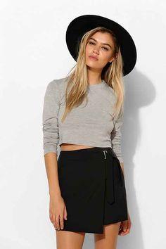Silence + Noise Wrap Buckle Mini Skirt - Urban Outfitters