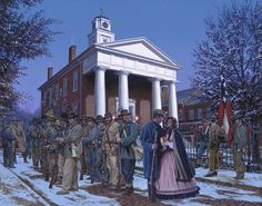 THE CHRISTMAS GIFT    Men of the Stonewall Brigade  Frederick County Courthouse - Winchester, Virginia  Winter of 1862