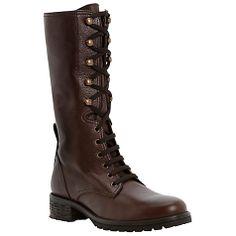 Buy Dune Black Panton Lace-Up Biker Boots Online at johnlewis.com