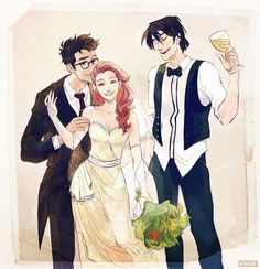 James Potter and Lily Evans Wedding, Sirius Black Lily Potter, Harry Potter Fan Art, Harry Potter Anime, Harry Potter World, Harry Potter Kunst, Blaise Harry Potter, Mundo Harry Potter, Harry Potter Ships, Harry Potter Universal