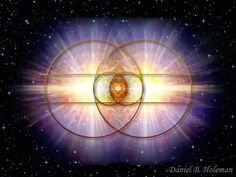 Imagine Spirit / Consciousness floating in infinity void space. Spirit decides to do something, so it expands it's consciousness all around itself creating a circle. Now spirit has an awareness of what is surrounding it in 360 degrees . Spirit has no choice but to do it again . Spirit moves to one end of the circle and repeats the process which is to again expand consciousness. This creates two circles and creates the Vesica Piscis.