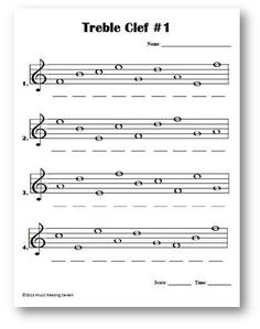 Worksheets Treble Clef Worksheet math music kids of new generation should have different methods treble clef lines and spaces name the notes on staff