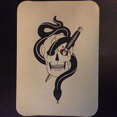 #tattoo #tattoos #tattoodesign #tattooart #tattooflash #design #drawing #painting #art #black #blackink #color #colortattoo #ink #red #oldschool #oldschooltattoo #knife #knifetattoo #snake #snaketattoo #skull  #skulltattoo #타투 #도안 #타투도안 #타투디자인 #타투플래시 #그림