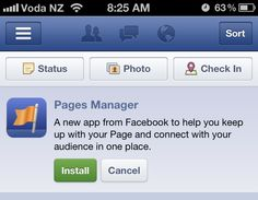 Facebook's Pages Manager App Helps You Manage Your Page On The Go