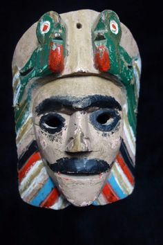 Handcarved Tecun Uman Dance Mask from Guatemala