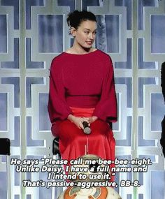 For context, This is Josh Gad speaking. He is being salty because Daisy wouldn't disclose Rey's last name.