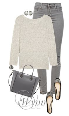 Wynn by animationchic on Polyvore featuring polyvore, fashion, style, Band of Outsiders, J Brand, Charles Jourdan, Lanvin, Vera Wang Lavender Label and clothing