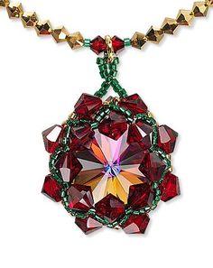 Rivoli crystal pendant