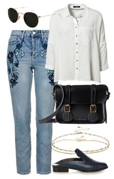 """""""Untitled #5707"""" by rachellouisewilliamson on Polyvore featuring Topshop, VILA, ASOS, Robert Clergerie, Dr. Martens and Ray-Ban"""