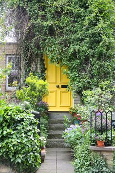 Things to do in London's Hampstead. This yellow door on Well Walk is one of the great little details that make the neighborhood so lovely.