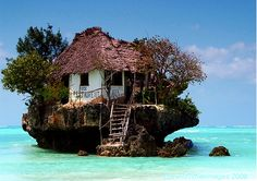 Not a home, but so unique...The Rock Restaurant, east coast Zanzibar