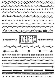 11 Simple Planner Doodles for Your Bullet Journal with Step by Step Process . - Journals and their Doodles - # Bullet Journal Inspo, Borders Bullet Journal, Bullet Journal 2019, My Journal, Bullet Journal Dividers, Journal Ideas, Bullet Journal Design Ideas, Bullet Journal Hand Lettering, Journal Fonts