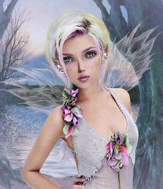 Pin by Kelsey Johnson on Art t Fairy Illustrations and 3d Fantasy, Fantasy Girl, Fantasy Artwork, Fantasy Fairies, Magical Creatures, Fantasy Creatures, Art Steampunk, Elves And Fairies, Fairies Garden