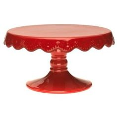 I really want a pretty red cake stand. @Nicole McCarson made this for my 30th bday for me. :D