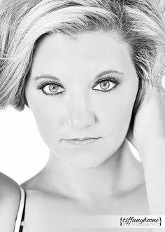 Boudoir Photography Kentucky Headshot Black and White