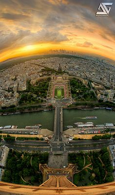 """View From The Top of The Eiffel Tower, Paris, France. (Paris: Home to """"Air France. Paris Travel, France Travel, Top Of The World, Wonders Of The World, Places To Travel, Places To See, Places Around The World, Around The Worlds, Magic Places"""