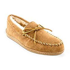 The Minnetonka Men's Sheepskin Hard Sole Slippers will keep your feet warm and cozy while you lounge around the house. These slippers are crafted of soft and flexible suede, and they feature a classic moccasin design with rawhide laces. Old Friend Slippers, Size 13 Shoes, Sheepskin Slippers, Moccasins Mens, Golden Tan, Mens Slippers, Old Man Slippers, Soft Sculpture, Fashion Boots