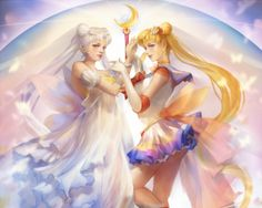 Sailor Moon - angelic, elegant, pretty, girl, female, nice, princess serenity, usagi tsukino, gorgeous, long hair, serena, serenity, magical girl, gown, anime girl, sweet, twin tail, beautiful, sailormoon, beauty, twin tails, anime, tsukino usagi, twintails, blond, usagi, blond hair, lovely, blonde hair, realistic, sailor moon, twintail, blonde, tsukino, dress