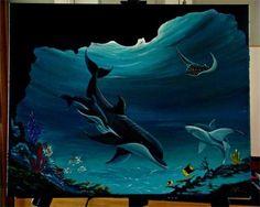 love underwater paintings like this.